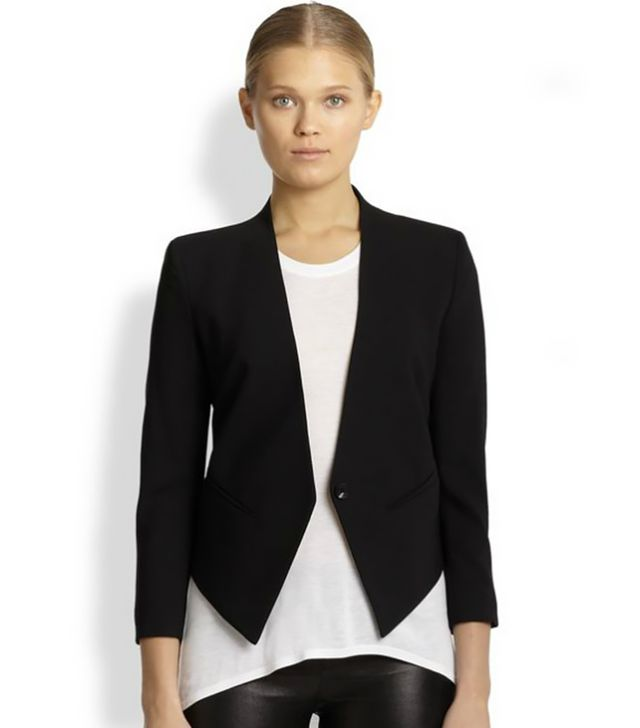 Helmut Lang Smoking Wool Tux Blazer