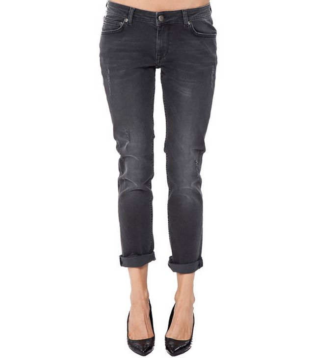 Anine Bing Distressed Jeans in Dark Grey