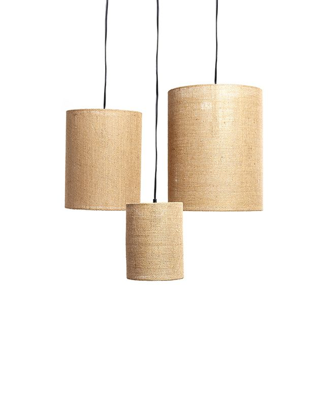 World Market Irving Burlap Lamp Shades