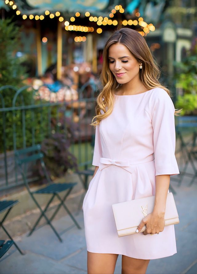 Outfit Idea: Pink Bows + Pearls