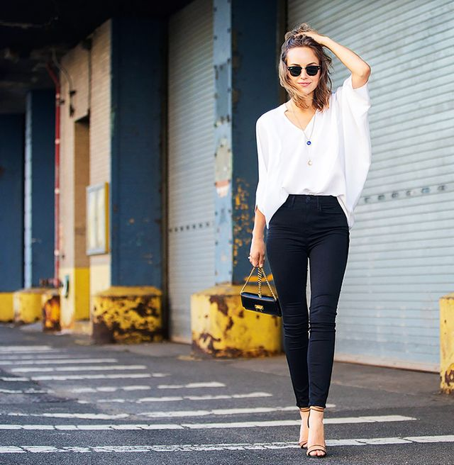 Outfit Idea: Black and White Separates