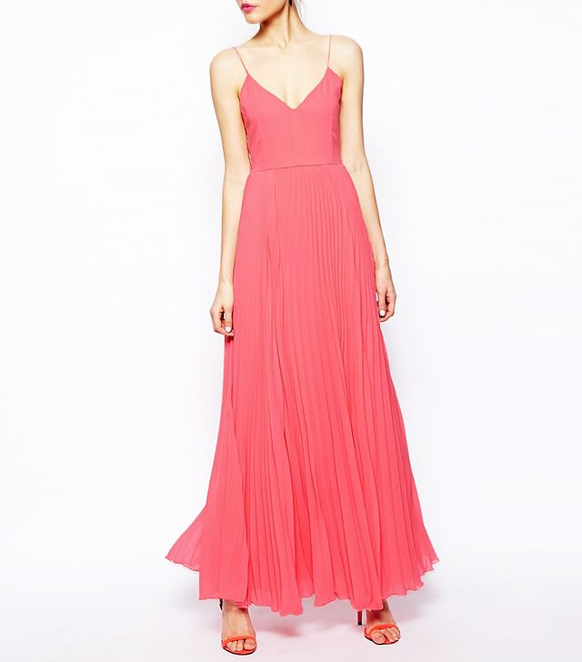 Asos Pink pleated maxi