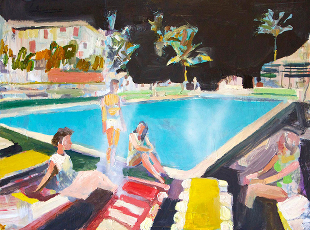 "Elizabeth Huey ""Midnight Swim"", 2013"