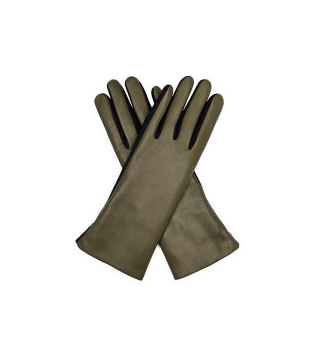Agnelle Fur-Lined Lamb Leather Gloves