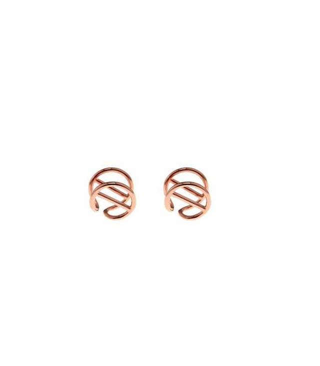 Coops London Bar-Circle Gold-Plated Earlobe Cuffs