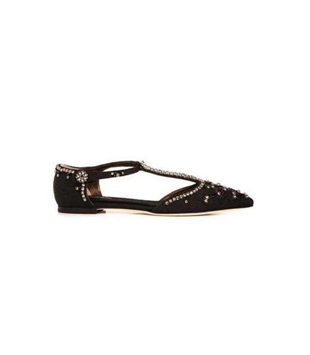 Dolce & Gabbana Bellucci Point-Toe Embellished Flats