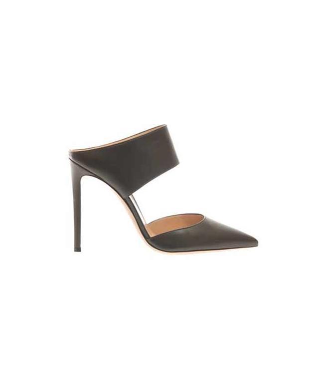 Gianvito Rossi Point-Toe Nappa Leather Mules