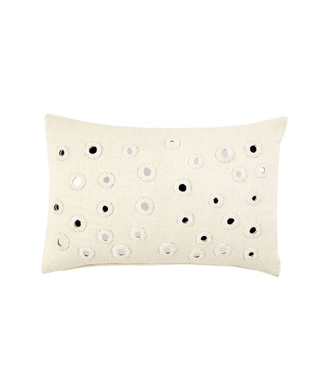 John Robshaw Ivory Kidney Decorative Pillow