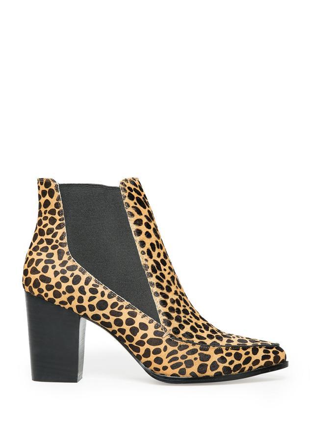 Mango Fur Ankle Boots