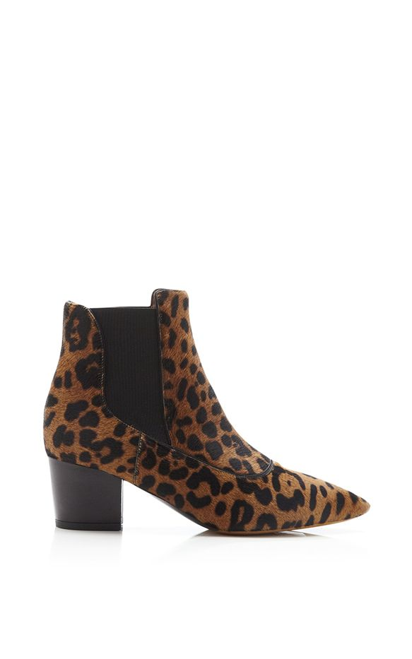 Tabitha Simmons Shadow Printed Calf Hair Ankle Boots