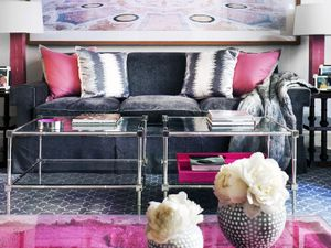 Inside a Posh Townhouse With Pops of Pink