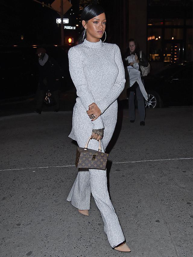 Would You Wear It? Rihanna's Head-to-Toe Knit Ensemble