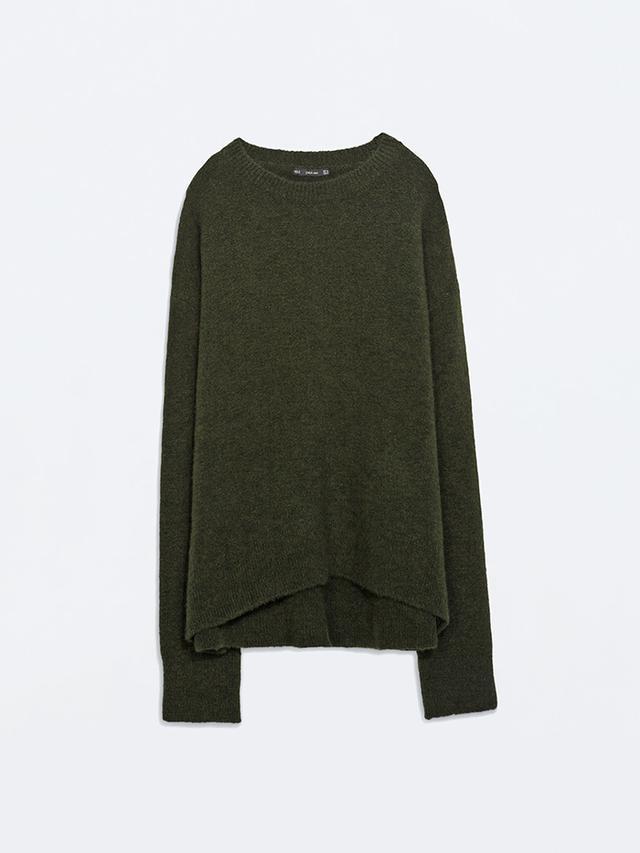 Zara Oversize Crew-Neck Sweater