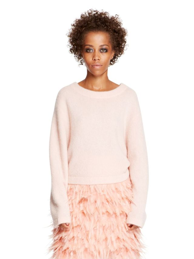 DKNY Cropped Long Sleeve Pullover