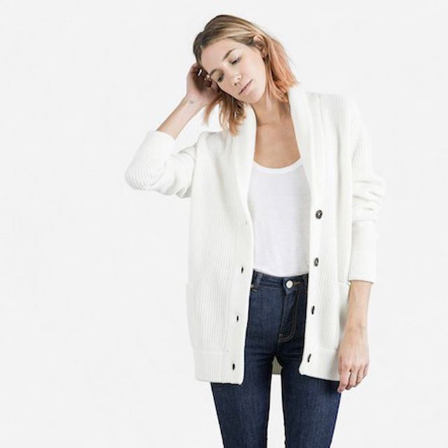 Everlane The Chunky Knit Cardigan