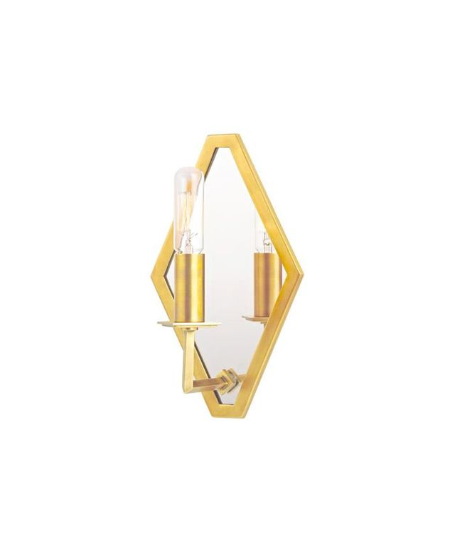 Shades of Light Refined Rhombus Mirrored Wall Sconce