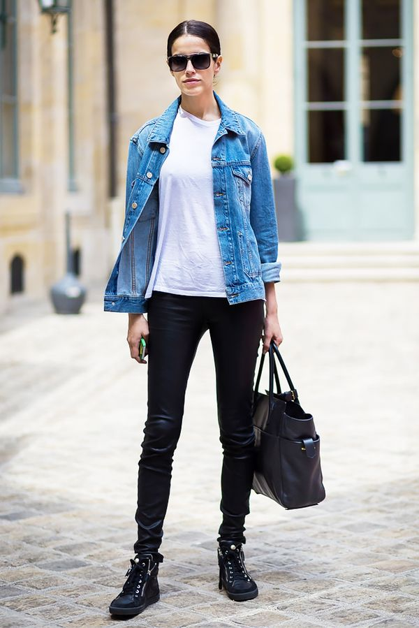 Flannel Motorcycle Jacket >> 11 Awesome Outfits to Wear with Lace-Up Boots | WhoWhatWear