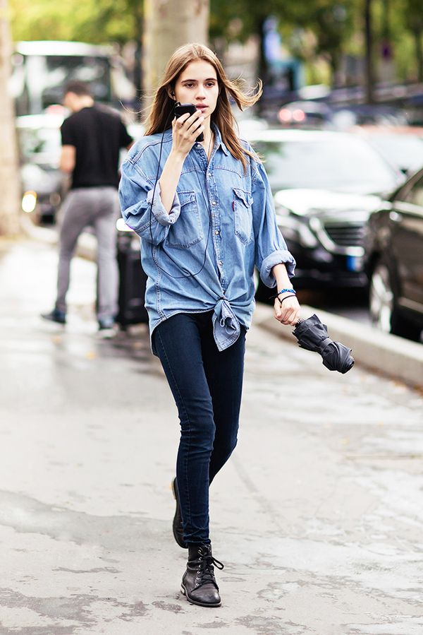 Style Recipe: Chambray Shirt + Cropped Jeans