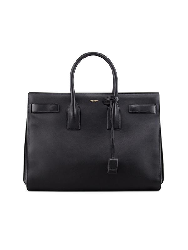 Saint Laurent Classic Sac De Jour Leather Tote Bag