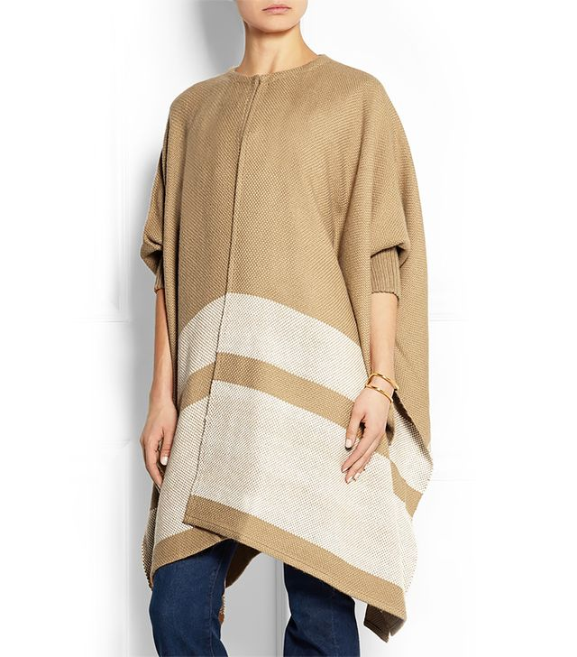 Finds + Apiece Apart Striped Woven Alpaca Blend Poncho