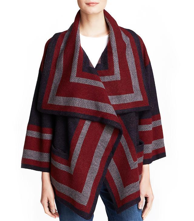 Burberry Brit Striped Blanket Coat