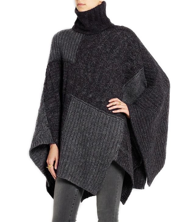 Étoile Isabel Marant Raquel Patchwork Knitted Cape