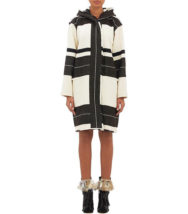 Isabel Marant Striped Adil Blanket Coat