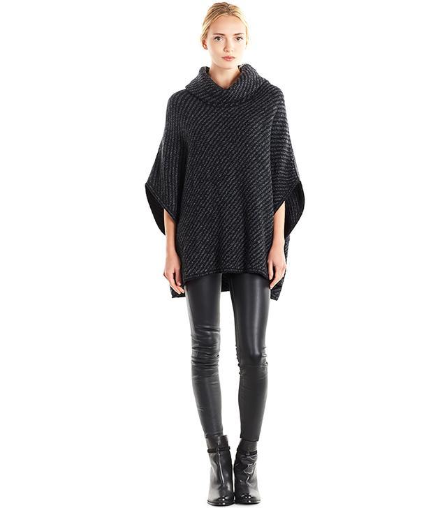Joie Stellan Chunky Knit Wool/Cashmere Poncho