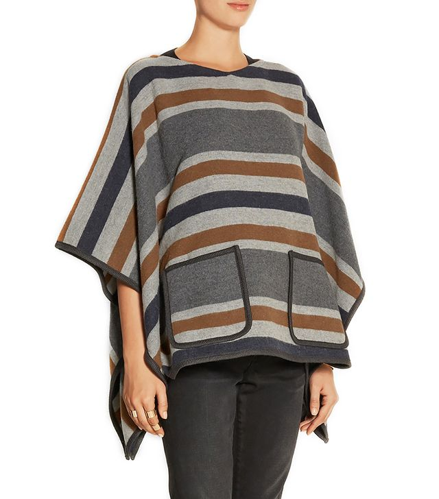 MiH Jeans Striped Wool Blend Poncho