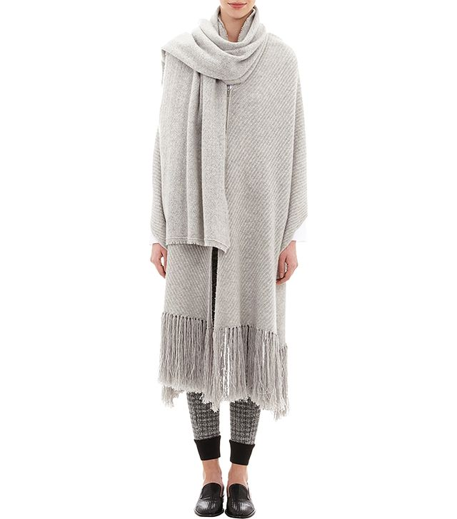 Thakoon Addition Melange Zip-Front Poncho