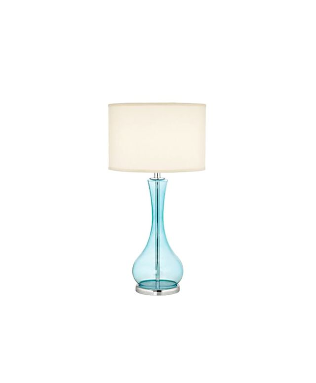 Lamps Plus Blue Martini Glass Table Lamp