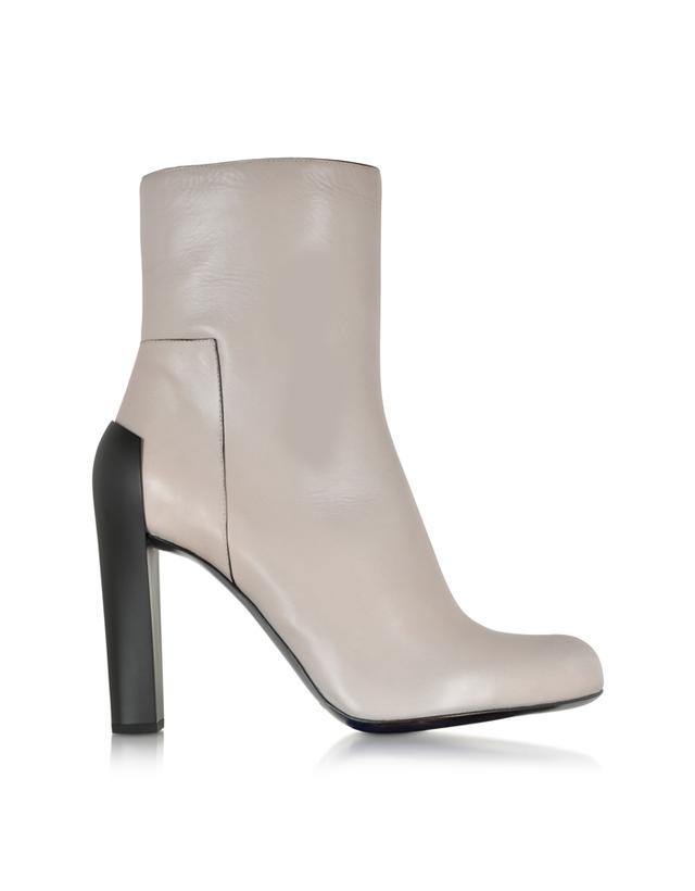 Jil Sander Sand Leather Talco Heel Boots