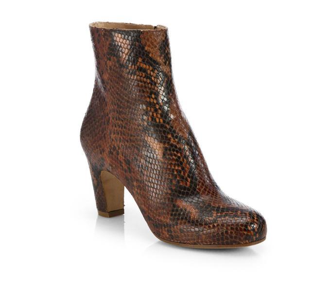 Maison Martin Margiela Snakeskin Curved Heel Ankle Boots