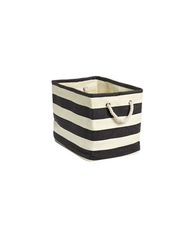 Striped Cloth Bin