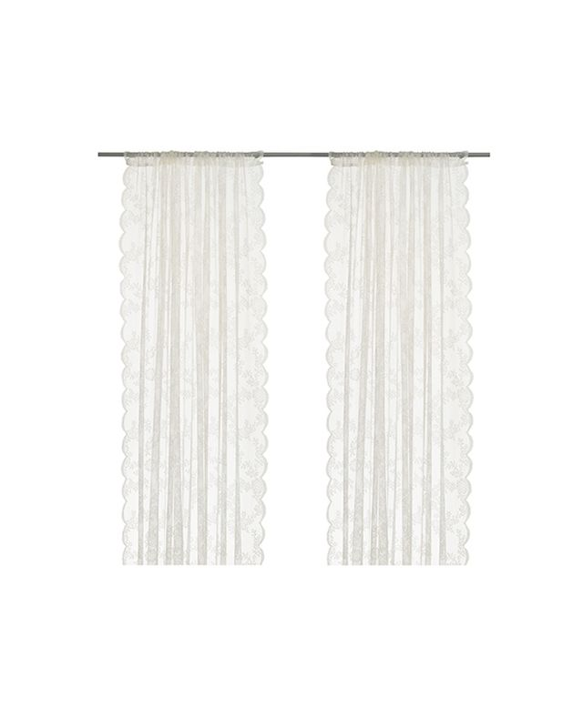 White Lace Ikea Curtains
