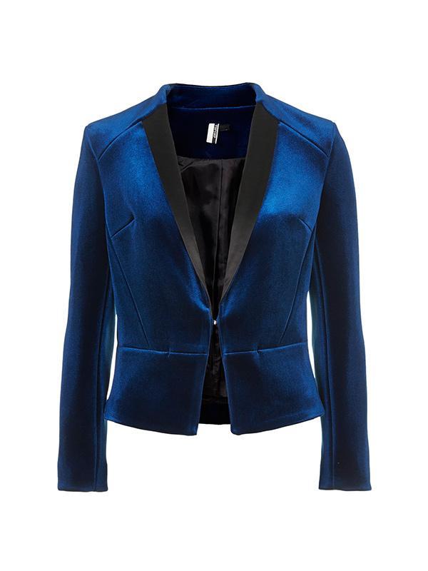 Topshop Premium Velvet Tuxe Jacket