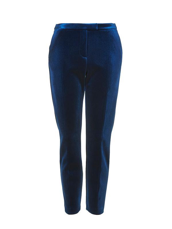 Topshop Premium Bonded Velvet Trousers