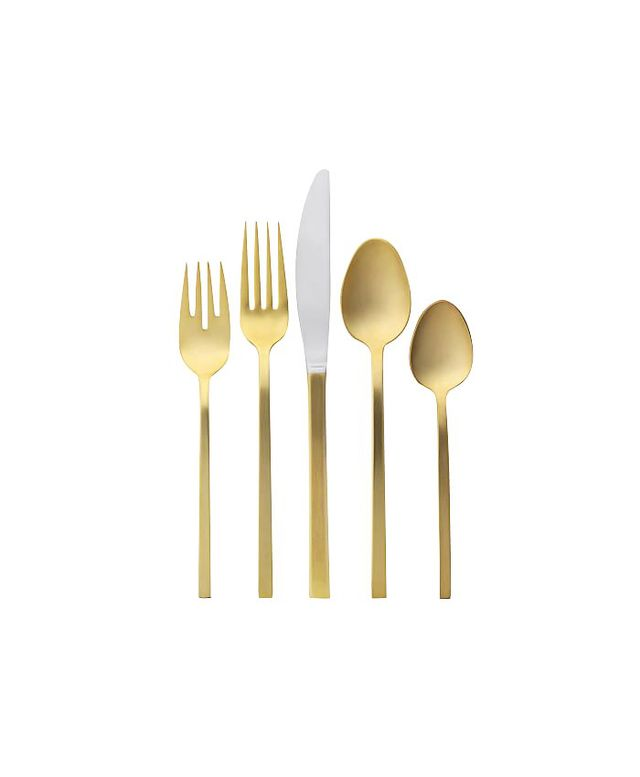 West Elm Gold Flatware Set