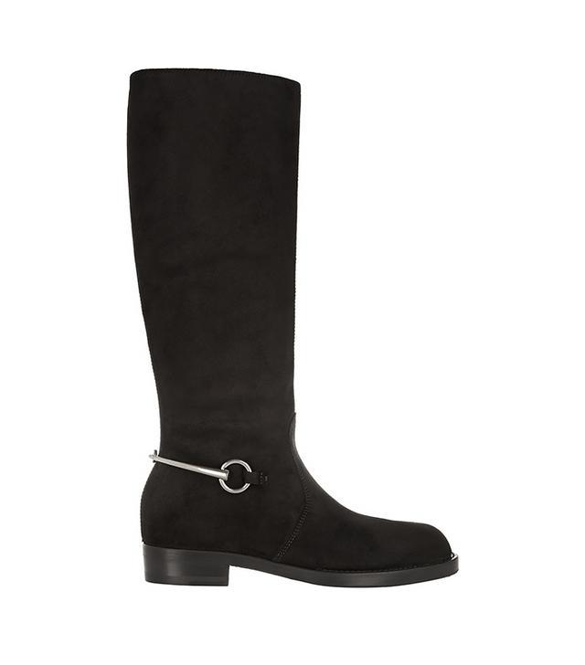 Gucci Horsebit-Detailed Nubuck Knee Boots