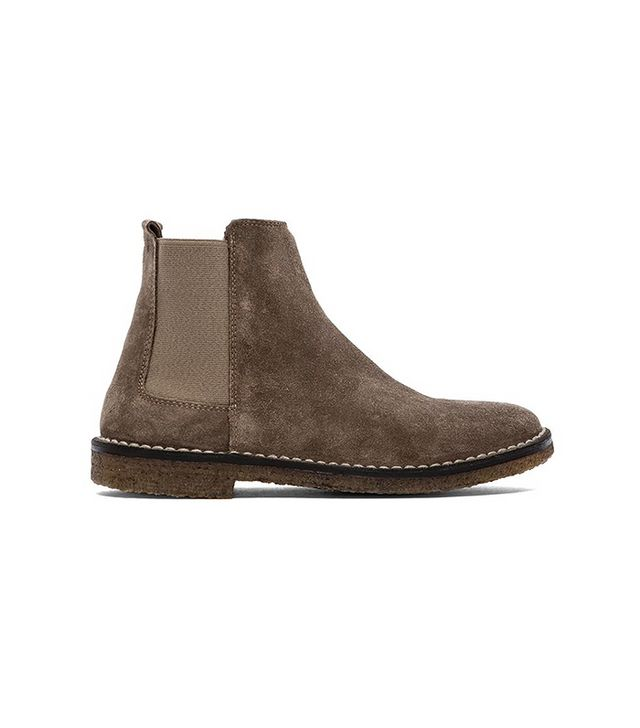 Vince Flat Cody Shearling Chelsea Booties