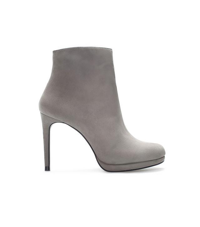 Zara Leather Platform Bootie