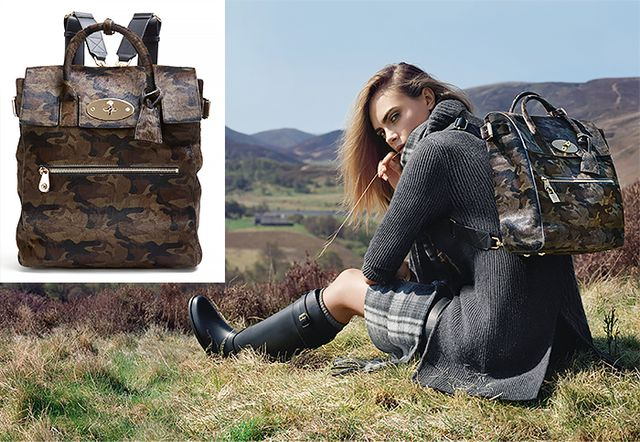 Mulberry + Cara Delevingne Camouflage-Print Calf Hair Backpack