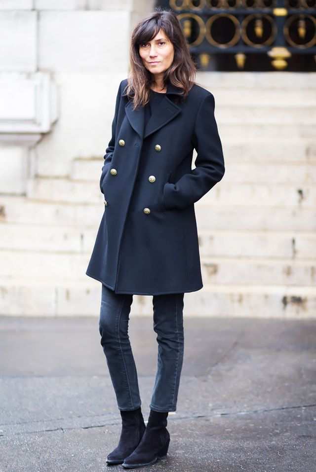 outfits with navy boots