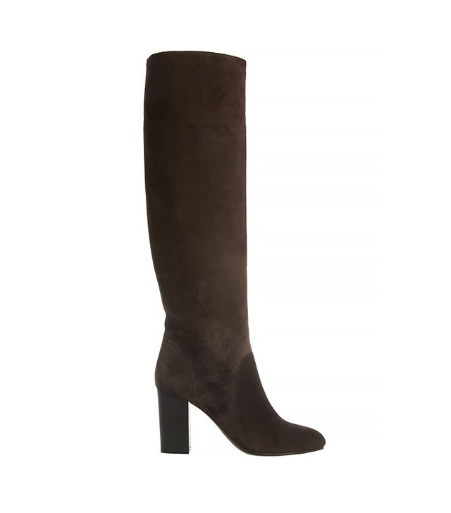 Lanvin Suede Knee Boots