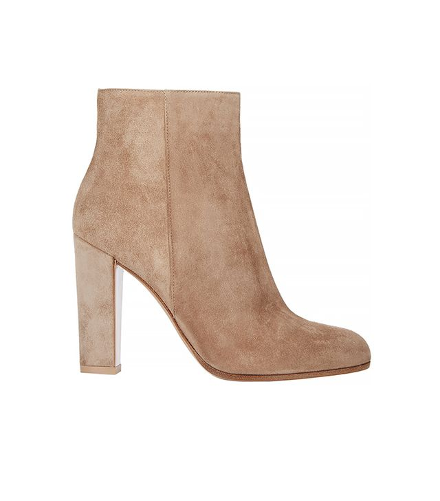 Gianvito Rossi Suede Side-Zip Ankle Boots