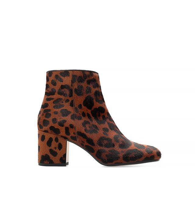 Zara High Heeled Printed Leather Bootie