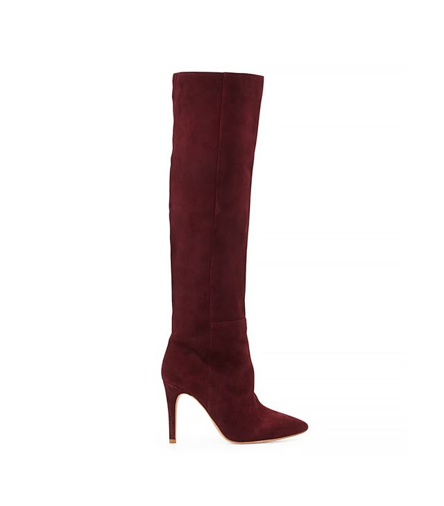 Joie Olivia Over-The-Knee Pointy Suede Boot