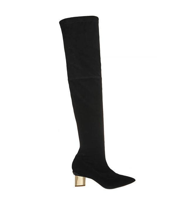 Nicholas Kirkwood Suede Block Heel Over-The-Knee Boots