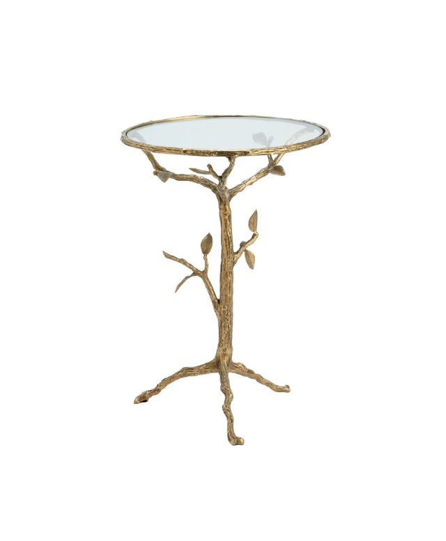 Arteriors Sherwood Brass Glass Accent Table