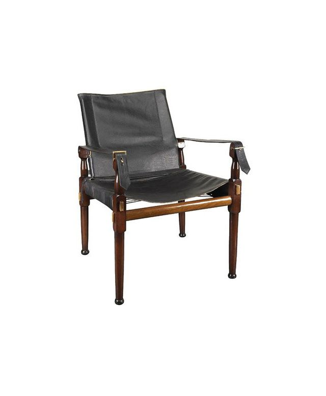 Bellacor Authentic Models Black Campaign Chair